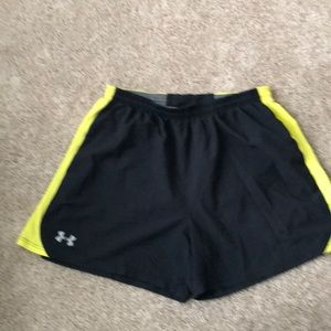 Lined polyester shorts